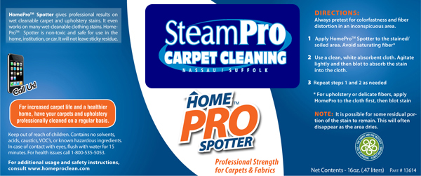 Homeprospotter Pet Plus Spotter Steampro Carpet Cleaning